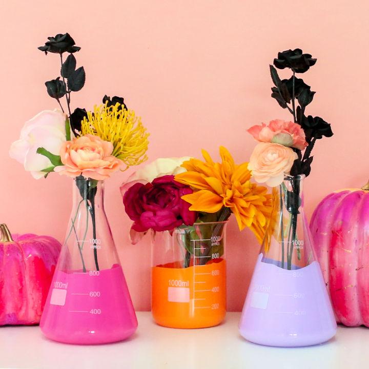 Halloween Beaker Flower Vases