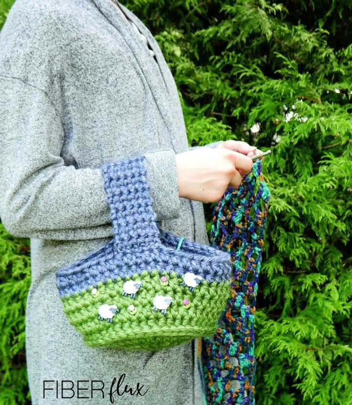 Happy Sheep Crochet Bag