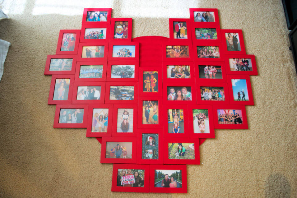 Heart Picture Frame Collage