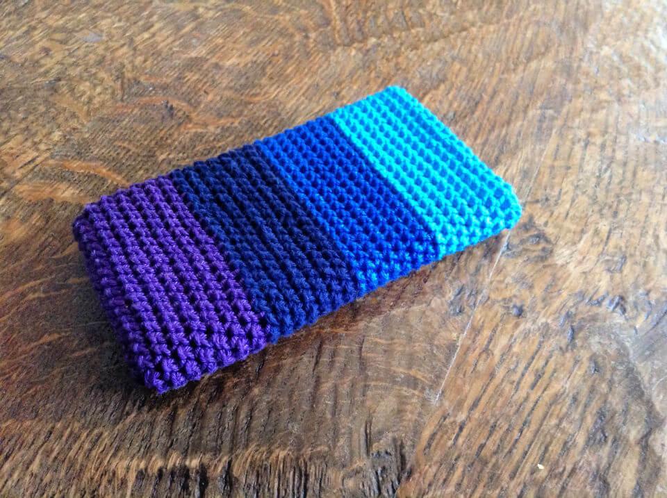 Herringbone Crochet Phone Cover