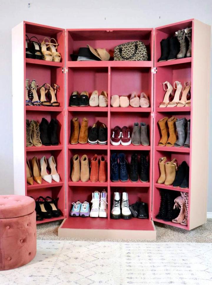 Hidden Shoe Storage with Cabinet