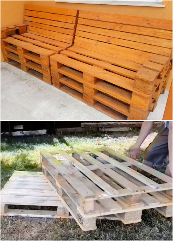 Homemade Pallet Bench