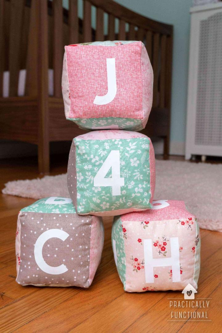 Homemade Soft Baby Blocks for Baby Girl