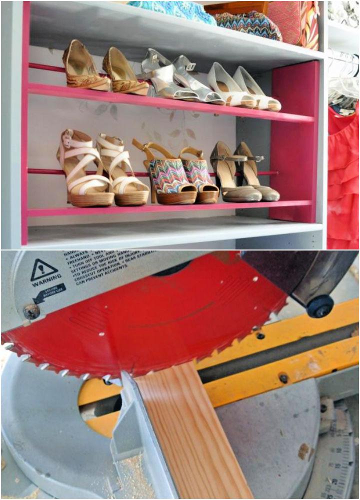 How to Build a Shoe Rack for Closet