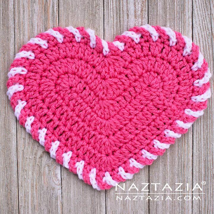 How to Crochet Light Heart Dishcloth
