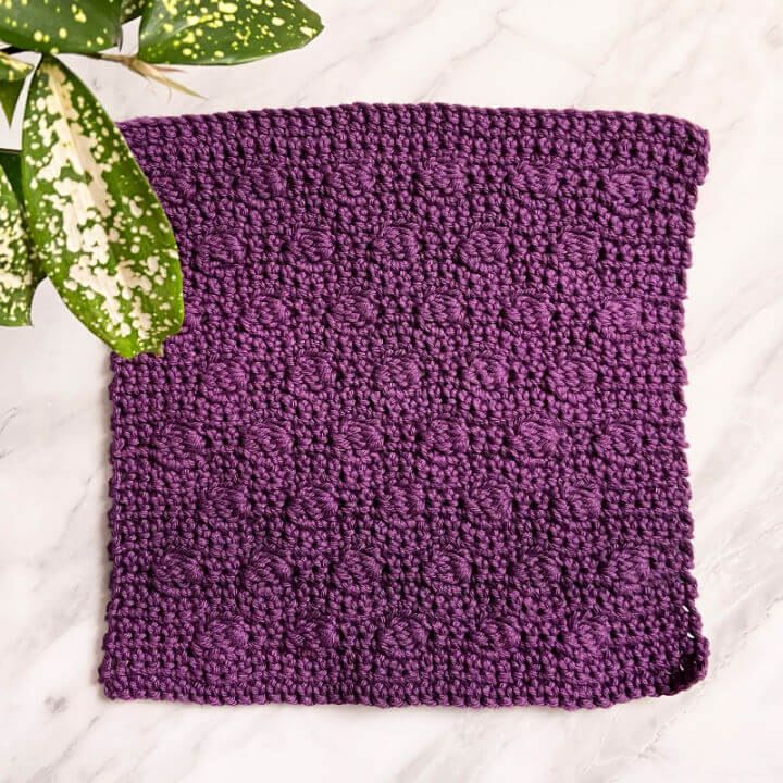 How to Crochet Mulberry Dishcloth