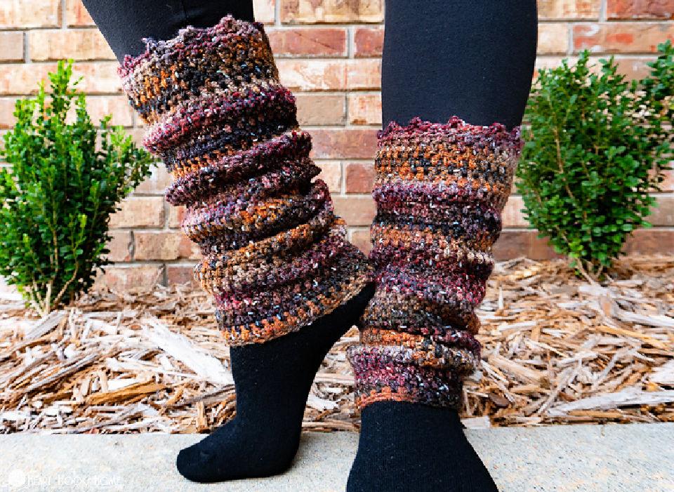 How to Crochet Sesame Leg Warmers