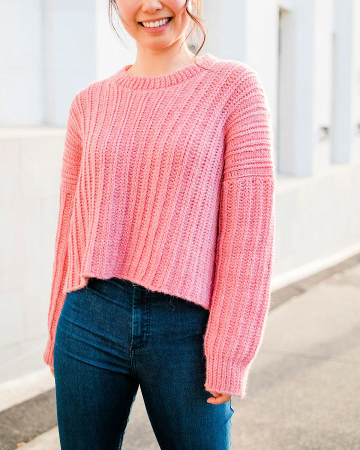 How to Crochet a Ribbed Sweater