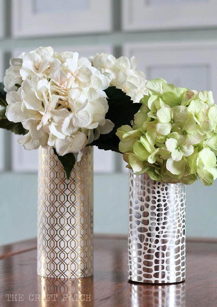 How to Make a Geometric Metallic Vase
