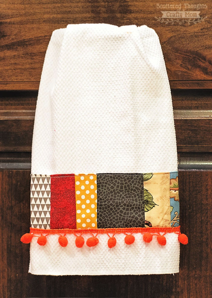 How to Sew Embellished Tea Towel