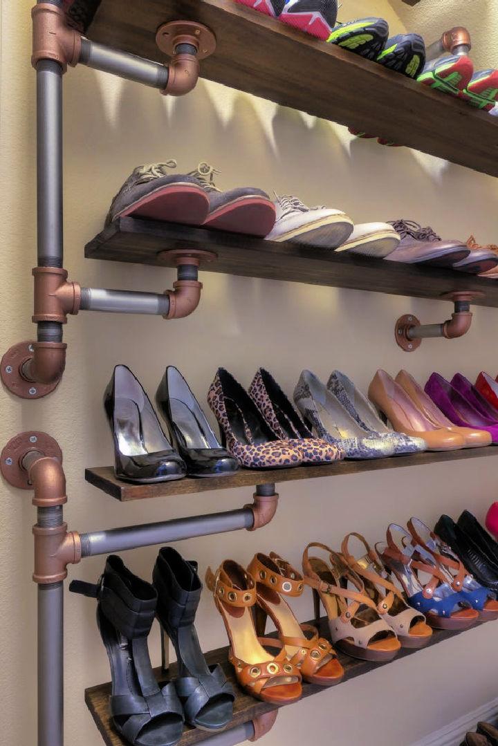 Iron Pipe Shoe Rack