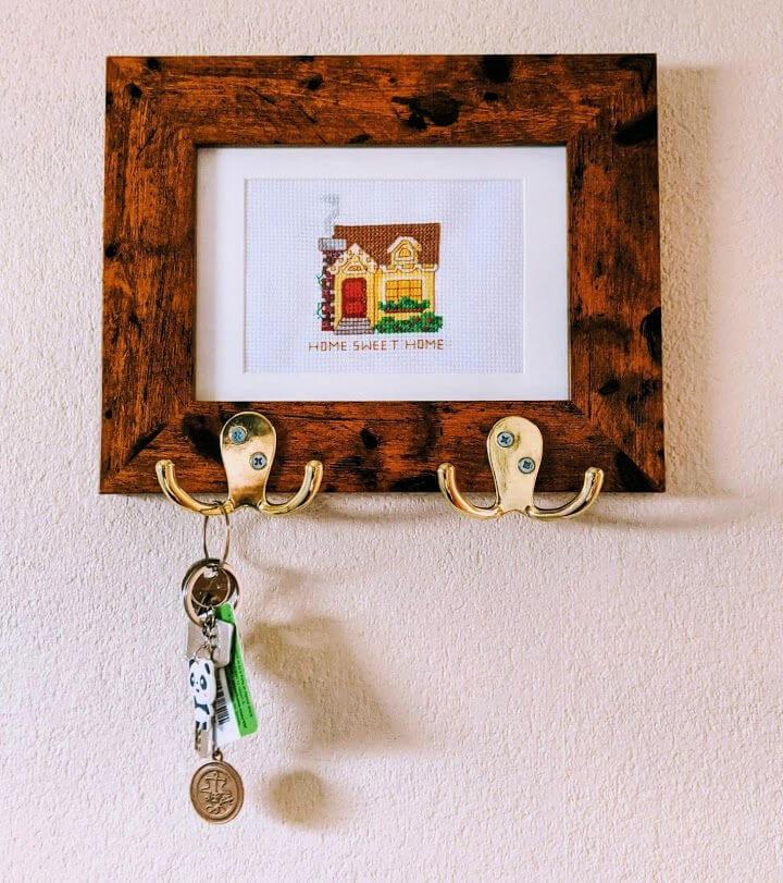 Key Holder Using Picture Frame