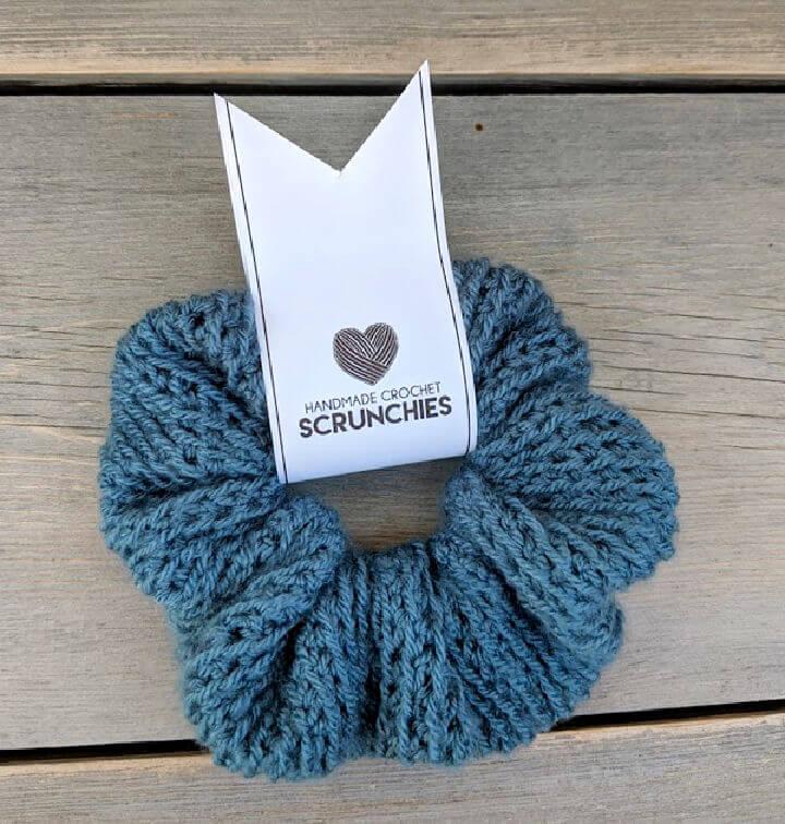 Lacey Crochet Scrunchie Pattern