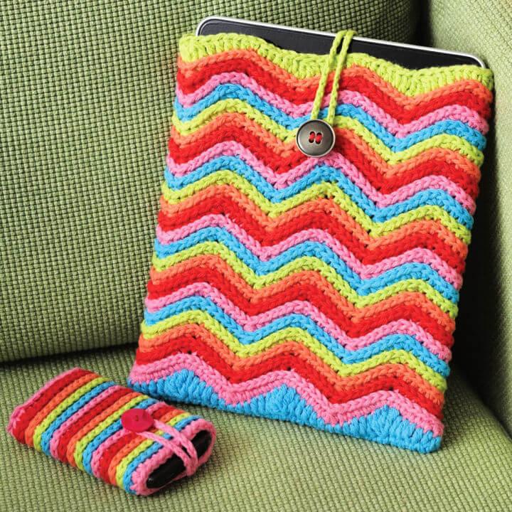 Lily Sugarn Cream Rainbow Stripes Tablet or Phone Case