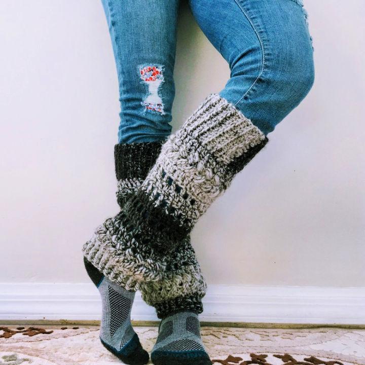 Luminous Leg Warmers Crochet Pattern