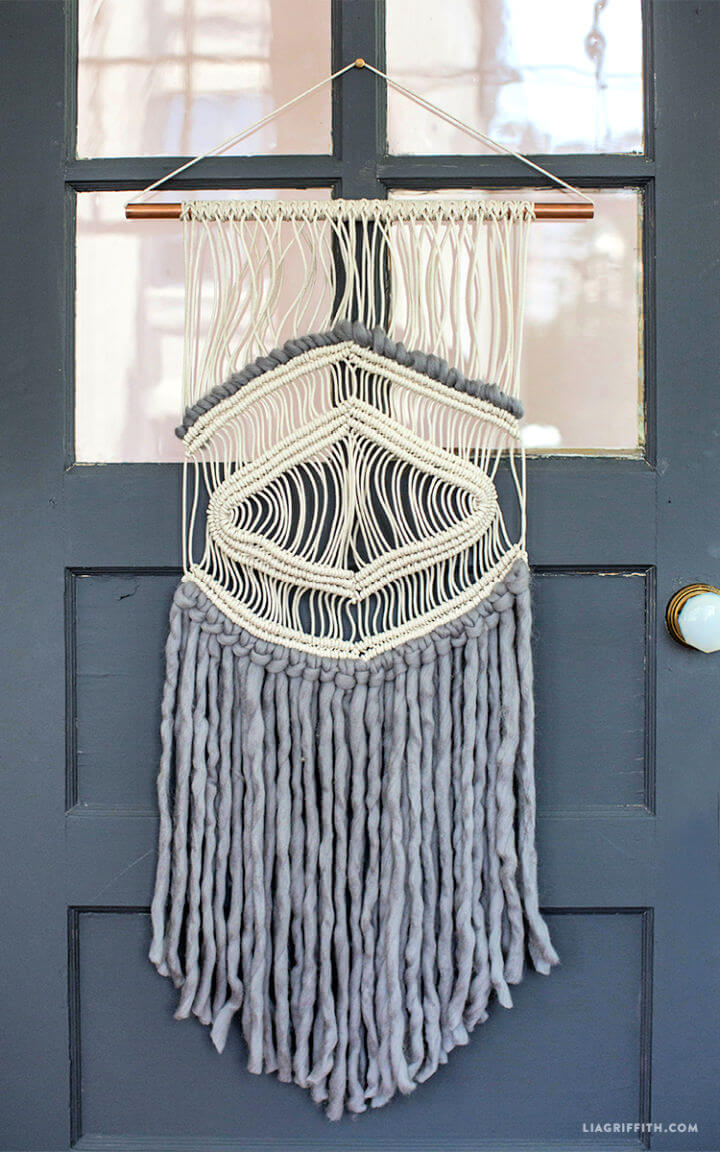 Macrame and Yarn Wall Hanging for Sale
