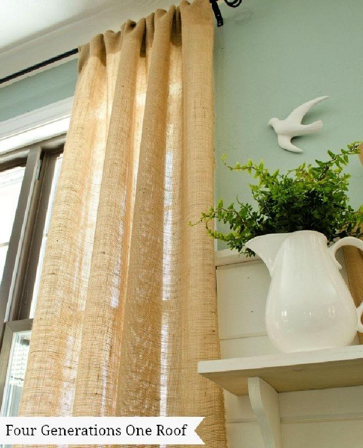 Make a Curtains Using Burlap
