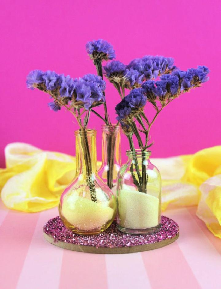 Make a Flower Vase with Glitter