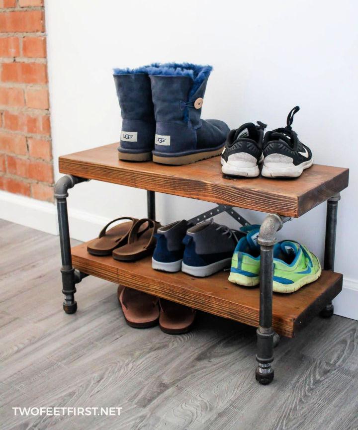 Make a Industrial Shoe Rack