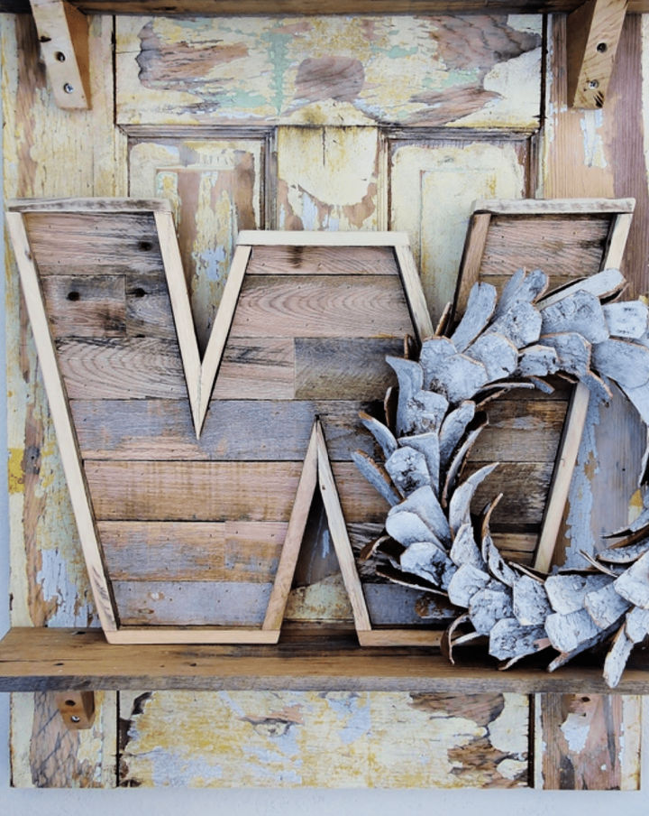 Make a Pallet Wood Letter