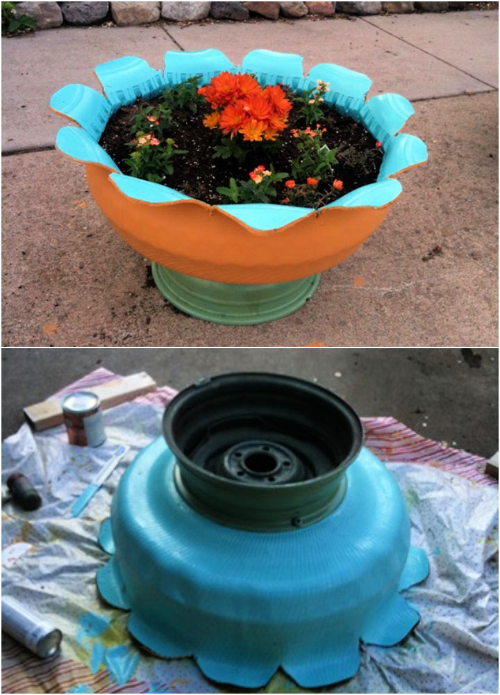 Make a Planter Out of an Old Tire