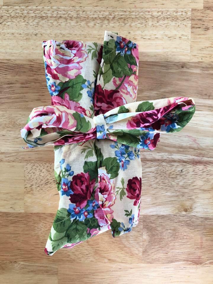 Makeup Bag with Recycled Scrap Fabric
