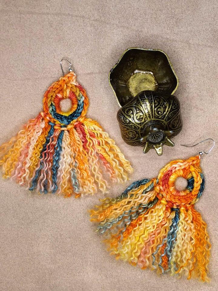 Michelle Loves Fringe Crochet Earrings