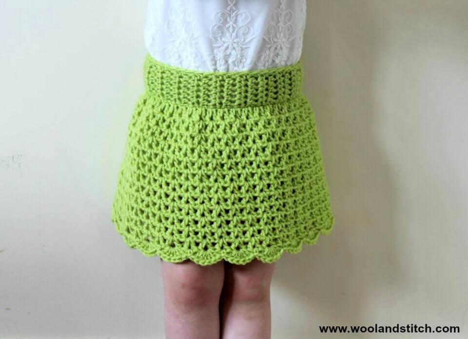 Mini Kids Summer Skirt Crochet Pattern