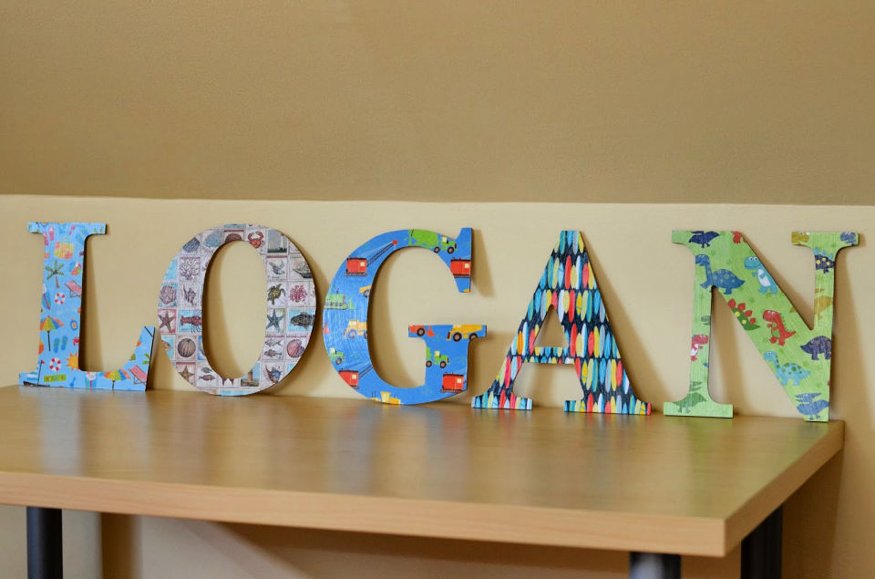 Mod Podge Personalized Wood Letters