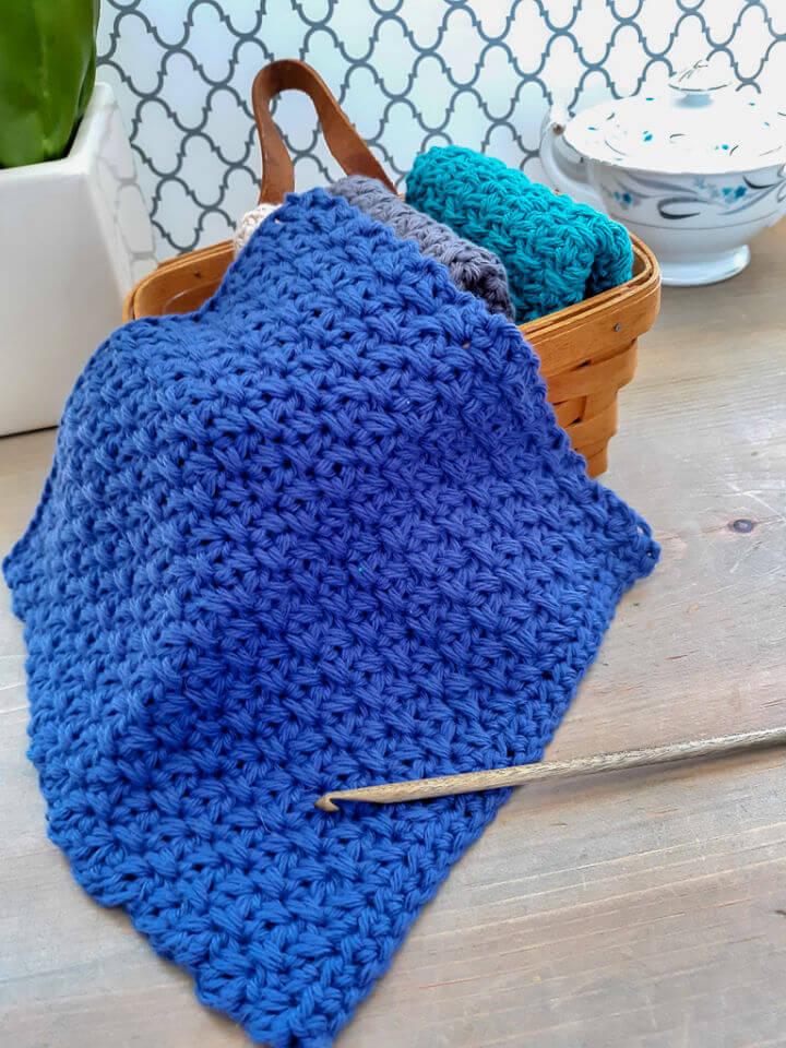 Modern Farmhouse Crochet Dishcloth