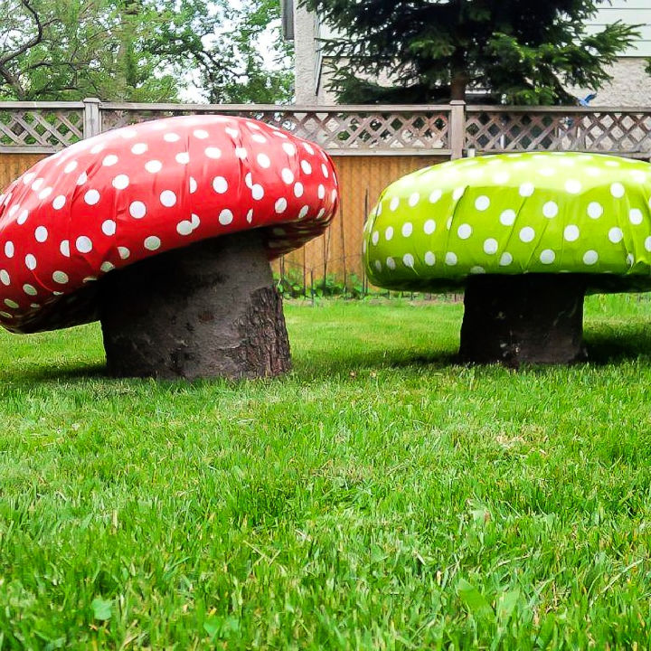 Mushroom Garden Stools
