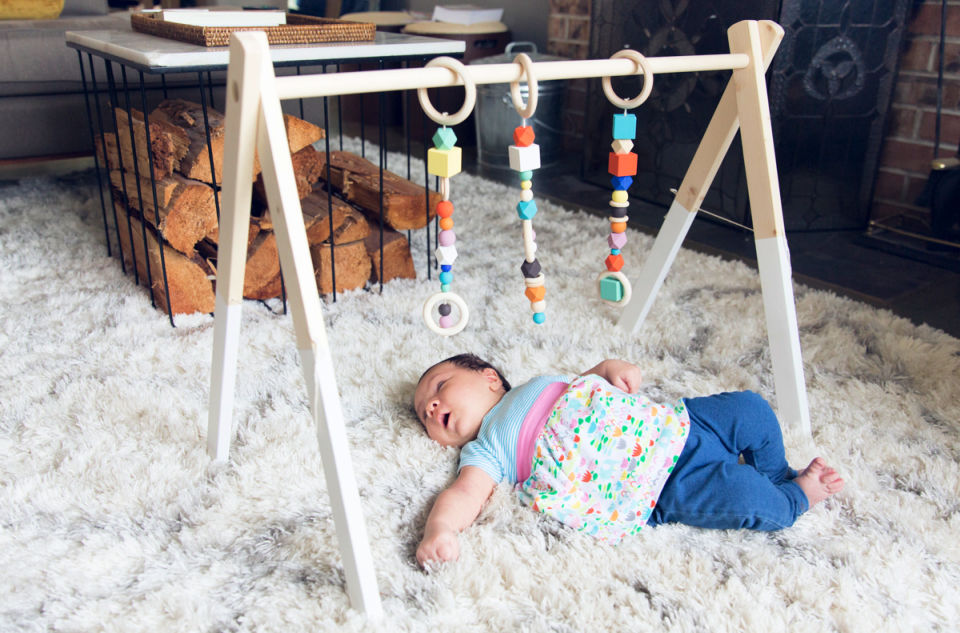 New Baby Wooden Gym