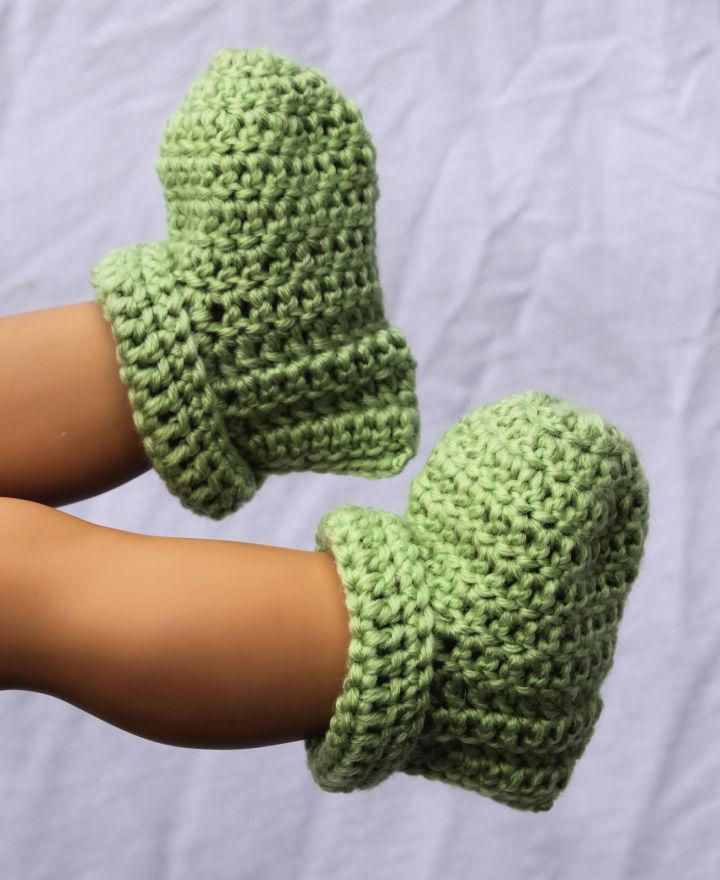 Newborn Crochet Baby Booties