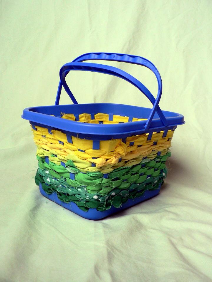 No Sew Scrap Fabric Basket