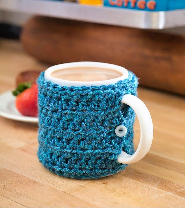 One Stitch Mug Cozy Crochet Pattern