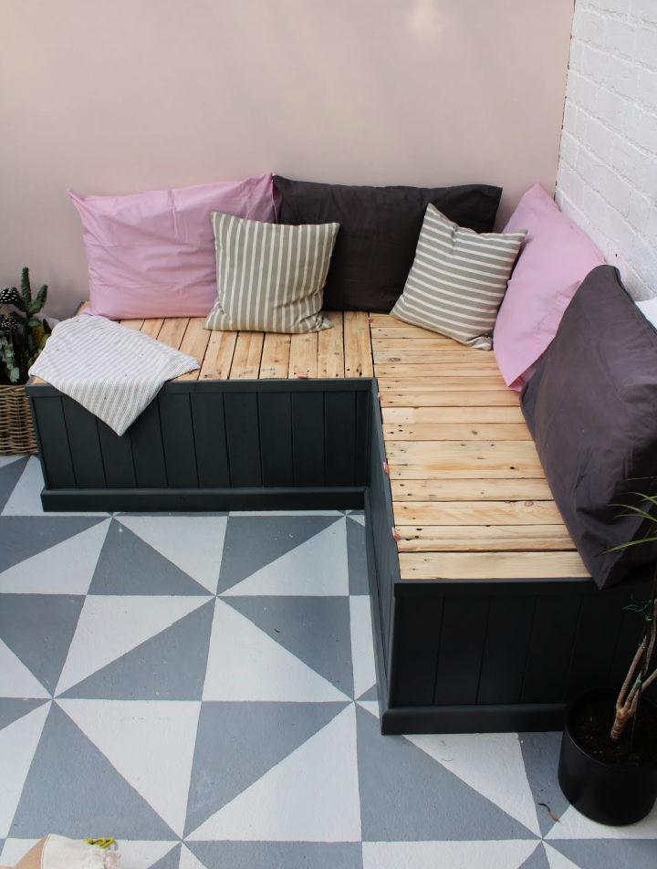 Pallet Seating Bench with Hidden Storage