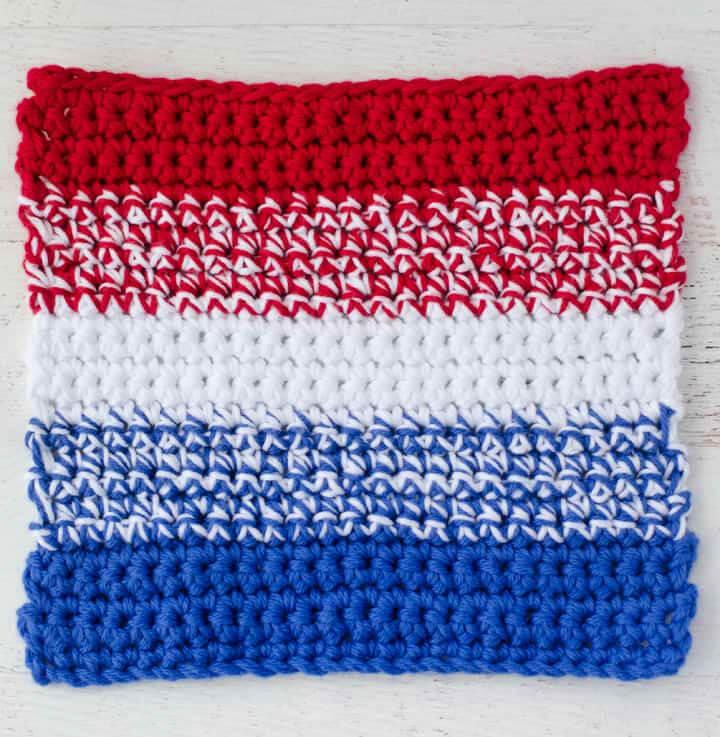 Patriotic Crochet Dishcloth Pattern