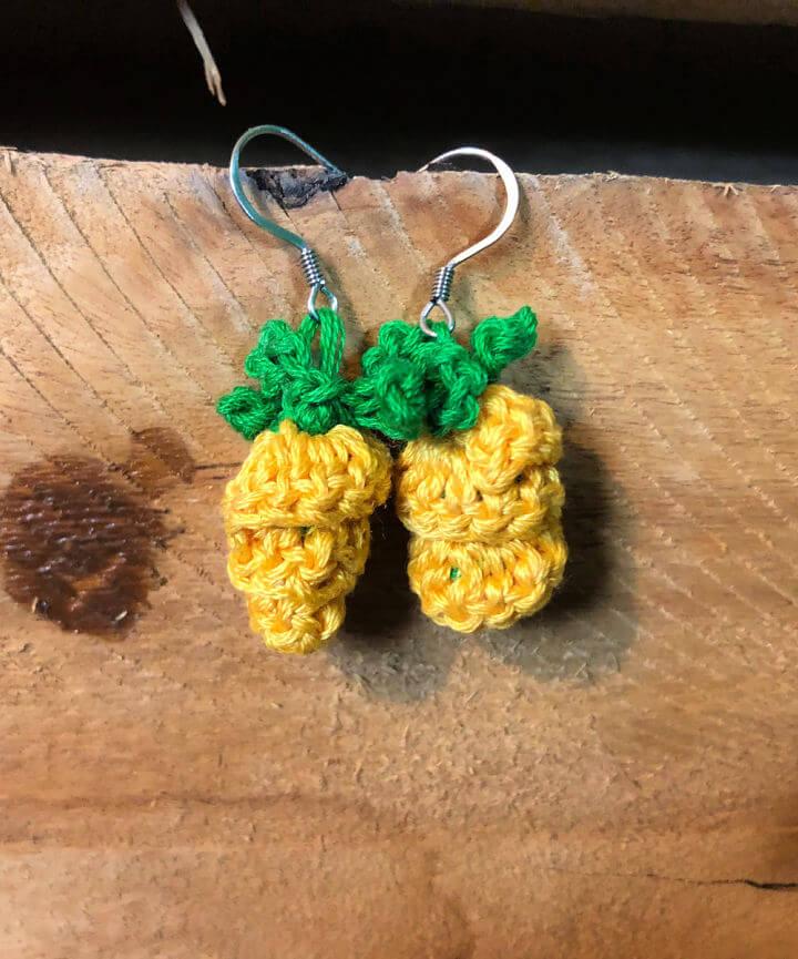 Pineapple Earring Crochet Pattern