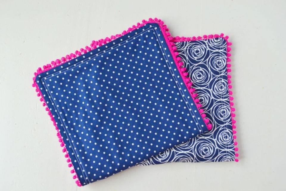Pom Pom Burp Cloth Gift for Baby Shower
