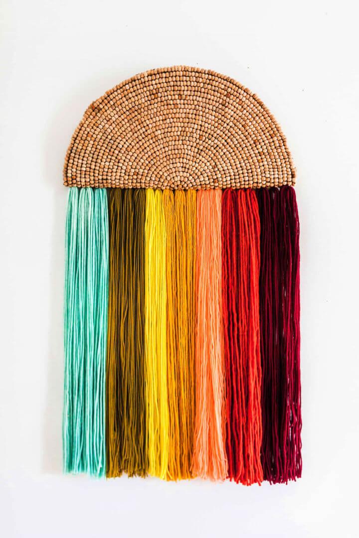 Rainbow Yarn Wall Art