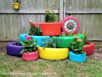 Recycle Tire Planter for Under 80