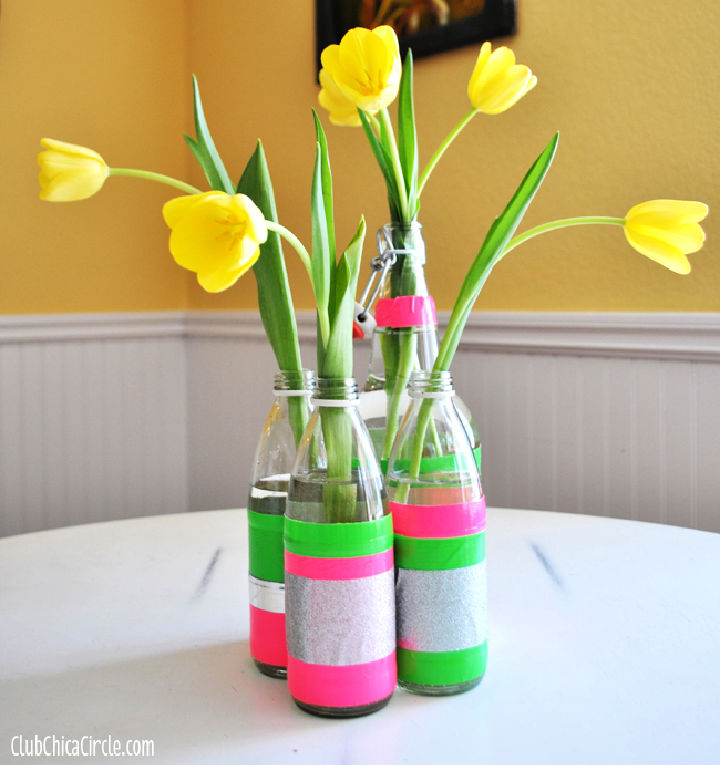 Recycled Spring Bud Vases