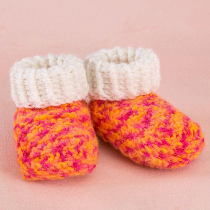 Red Heart Crochet Happy Girl Booties
