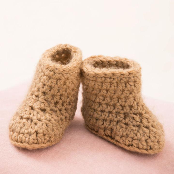Red Heart Warm Crochet Baby Booties