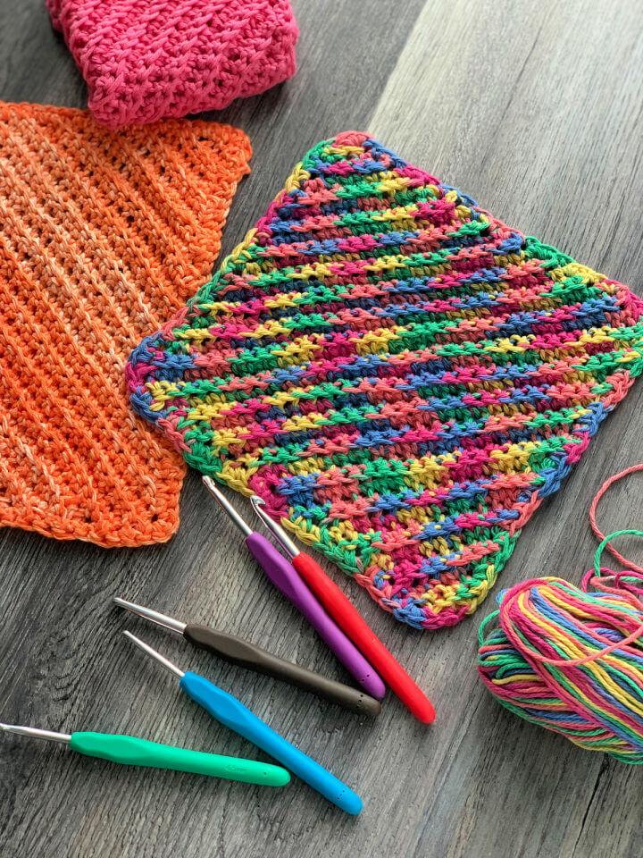 Ribbed Crochet Dishcloth Pattern