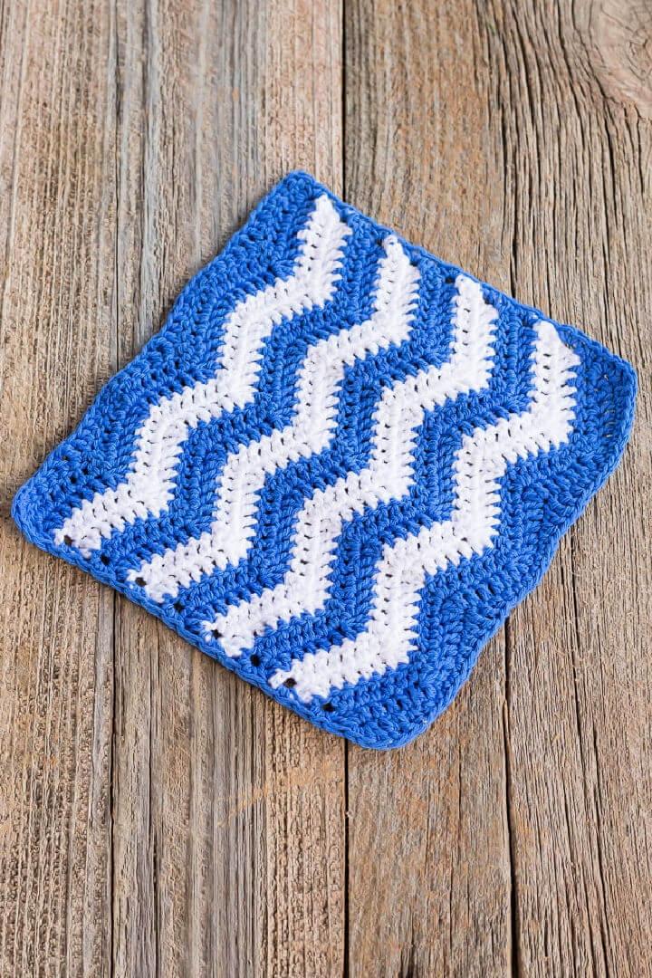 Ripple Crochet Dishcloth Pattern