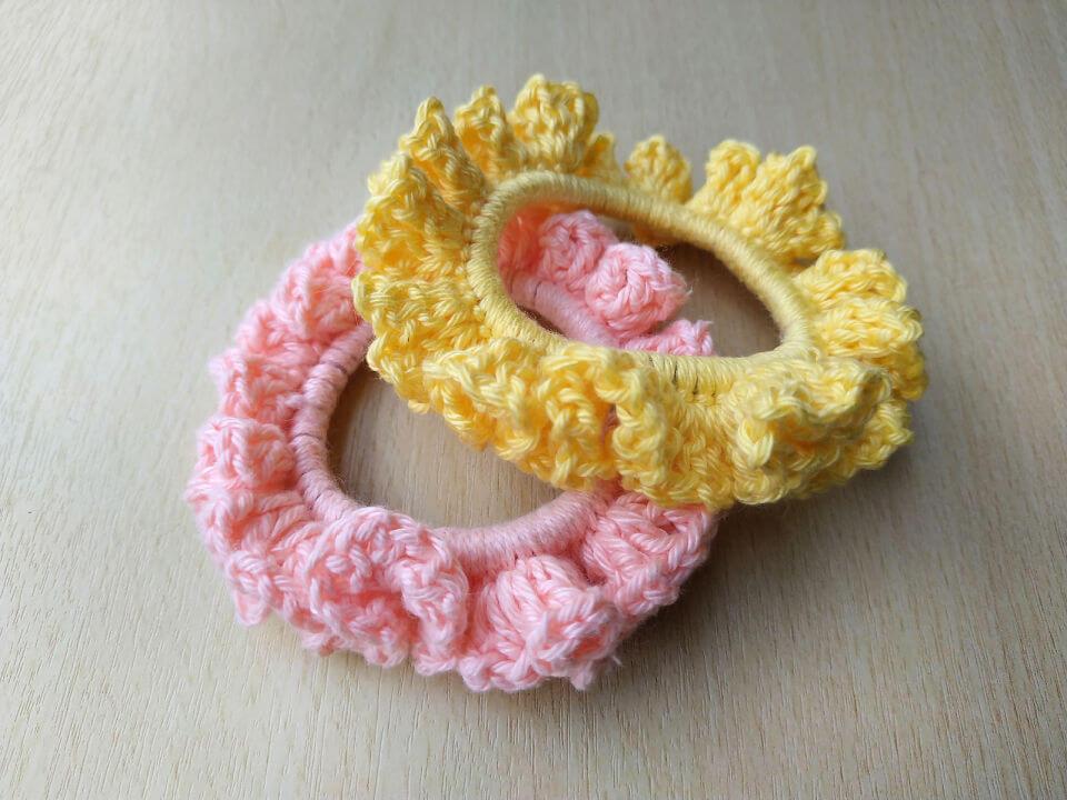 Ruffle Crochet Scrunchie Pattern