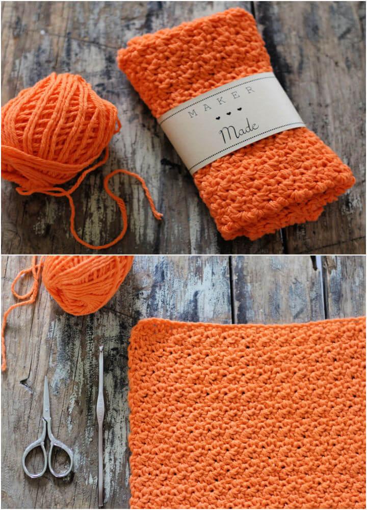 Rustic Crochet Dish Cloth Rag