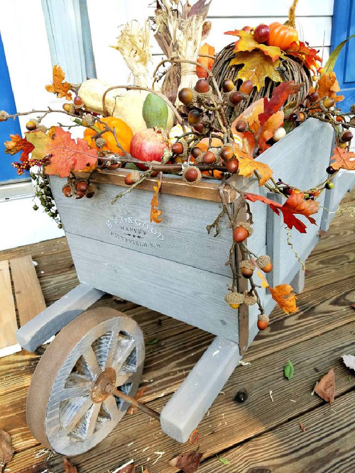 Rustic Fall Wheelbarrow Decor