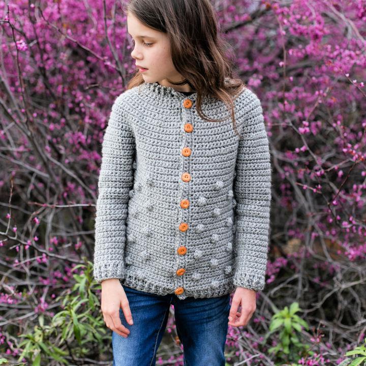 Rylan Big Kids Crochet Sweater